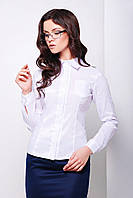 Классическая женская белая рубашка для офиса, фото 1