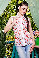 Легкая прозрачная блузка без рукавов