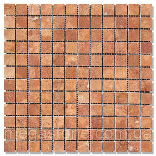 Мраморная мозаика МКР-2П (полированная) 23*23*6 Terracotta Mix