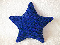 Декоративная подушка звезда ручная работа