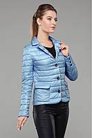 Ультрамодная женская куртка весенняя застегивается на пуговицы