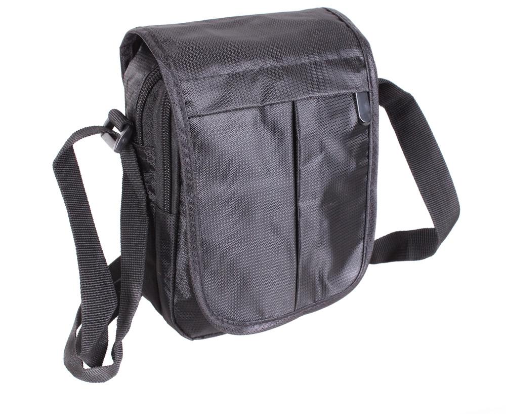 Мужская тканевая сумка через плечо черная