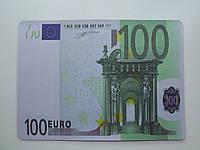 """Коврик для компьютерной мышки """"100 EURO"""", размер 20х28 см"""