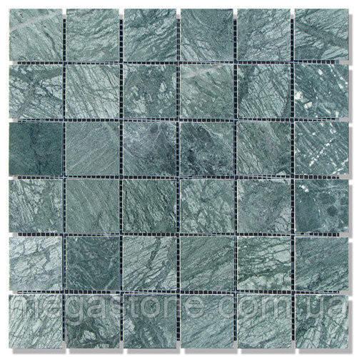 Мраморная мозаика МКР-3П (полированная) 48*48*6 Indian Green