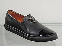 Модные молодежные туфли натуральная кожа, фото 1