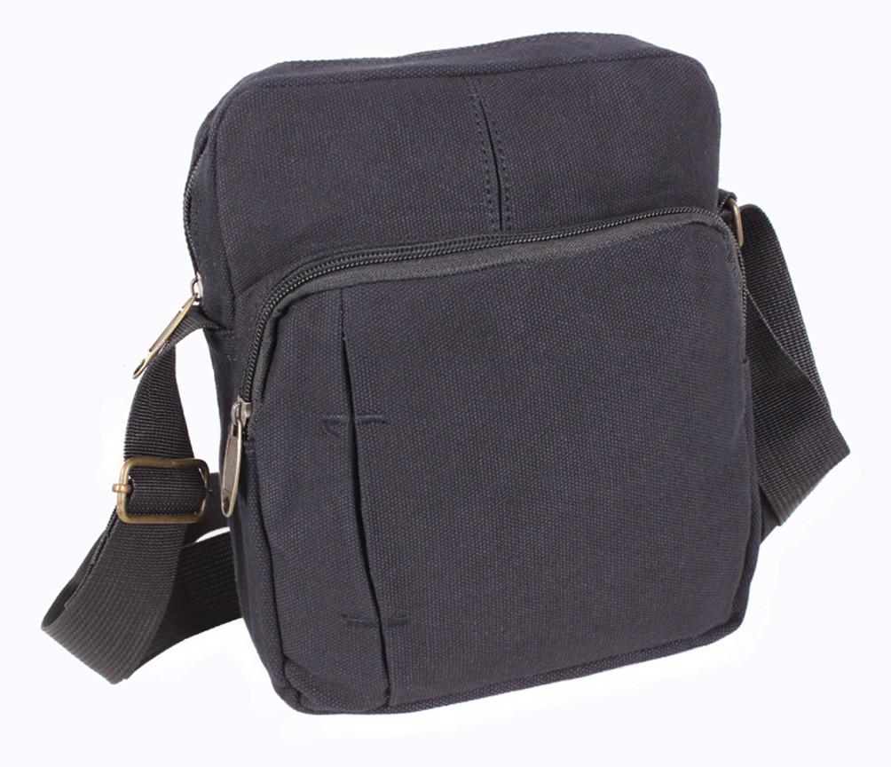 f09f81cc0176 Мужская тканевая сумка через плечо черная, цена 357 грн., купить в ...
