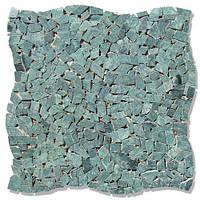 Мраморная мозаика хаотичная МКР-ХС (старенная/валтованная) Indian Green