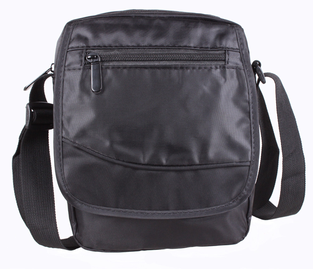 4de5302ecf1e Мужская тканевая сумка через плечо черная, цена 372 грн., купить в ...