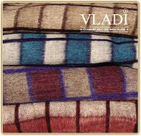 Одеяло полушерстяное клетчатое Vladi Трехцветное