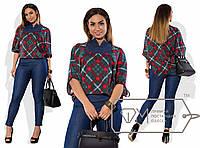 Женский повседневный костюм джинсы и кфта. Большие размеры.  Разные цвета.