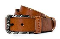 Классический винтажный мужской кожаный ремень под джинсы (11217)
