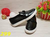 Слипоны черные с цепью, женская обувь, кроссовки, мокасины , фото 1