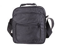Мужская тканевая сумка с ручкой и через плечо черная
