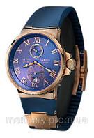 Качество!Классические стильные мужские наручные часы Ulysse Nardin (Улис Нардин кварцевые)черные и синие