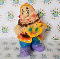 Садовая фигурка Гномик с палитрой маленький