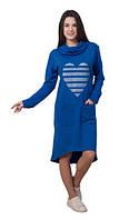 Женское платье Сердце  спортивное, повседневное, удобное  асиметрия  размер  44, 46, 48, 50, 52, 54, 56
