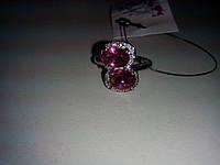 Кольцо с камнем кварц в серебре.