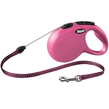 Поводок-рулетка FLEXI CLASSIC CAT XS трос (3 м; до 8 кг), розовый