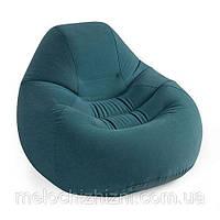 Велюр кресло удобное, надувное, зеленое (Арт. 68583)