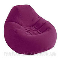 Велюр кресло удобное, надувное. Цвет бордо (Арт. 68584)