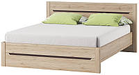 Кровать 160 DESJO 53 160х200 Szynaka дуб san remo - коричневый uni
