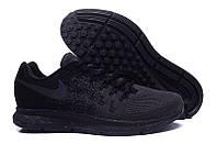 Мужские кроссовки Nike Air Zoom Pegasus 33 Knit Men All Black. найк пегас 33, интернет магазин обуви