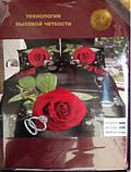 Постельное белье 5D комплект (размер евро 200*220) Сатин, фото 2