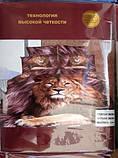 Постельное белье 5D комплект (размер евро 200*220) Сатин, фото 4