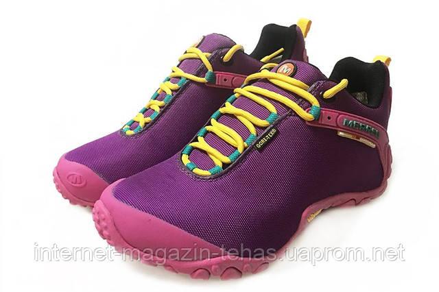 Merrell Continuum Goretex purple Pink женские демисезонные кроссовки