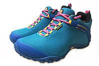 Merrell Continuum Goretex Blue женские демисезонные кроссовки