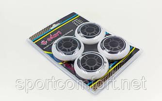 Колеса для роликов  (80 мм) 4 шт полиуретан Zelart без подшипников