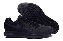 Мужские кроссовки Nike Air Zoom Pegasus 33 Knit Men All Black. интернет магазин кроссовок, найк пегас 33