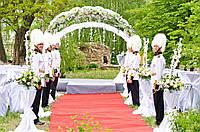 Оформление выездной церемонии, аренда декораций для свадьбы