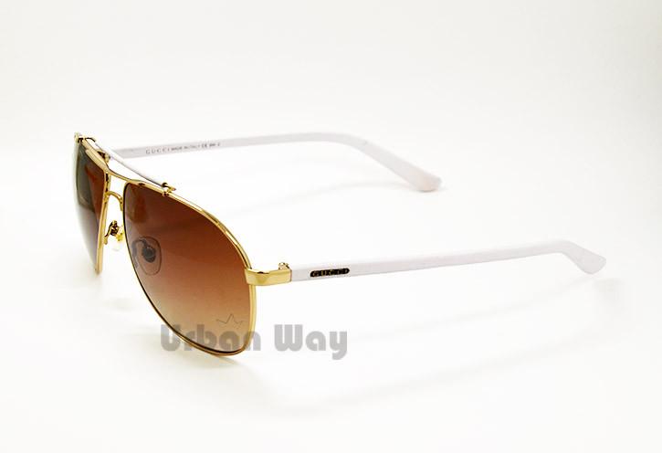 61b2fb5a151d Мужские солнцезащитные очки Gucci, белая оправа - Интернет - магазин