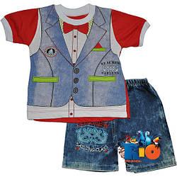 """Летний детский костюм """"Sea Crew"""" для мальчиков (рост 86-92-98 см) (3 шт в уп.)"""