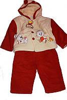 Детский флисовый костюм курточка+штанишки 9 мес-1 год