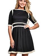 Платье из лакоста | 2116 sk черный