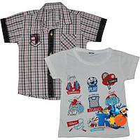 """Летний комплект (рубашка с футболкой) """"All You Need"""" , для мальчиков от 1-4 лет (4 ед в уп.)"""