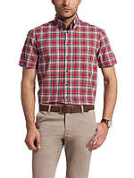 Мужская рубашка LC Waikiki / ЛС Вайкики с коротким рукавом красного цвета в черно-белые полоски, фото 1