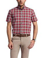Мужская рубашка LC Waikiki с коротким рукавом красного цвета в черно-белые полоски