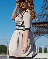 Платье из лакоста | 2116 sk бежевый