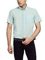 Мужская рубашка LC Waikiki с коротким рукавом светло-зеленого цвета