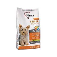 Корм 7 кг для пожилых или малоактивных собак мини и малых пород сухой супер премиум 1st Choice (Фест Чойс)