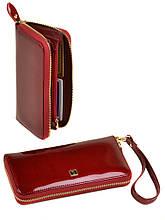 Шкіряний гаманець-сумка модний Gold Bretton