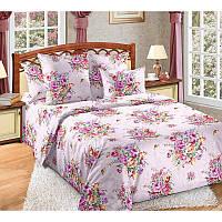Ткань для постельного белья, перкаль (хлопок) Розовый букет