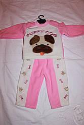 Дитячий флісовий костюм кофточка+штанці 3-6 місяців