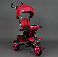 Трехколёсный детский велосипед Best Trike 6699 красный, надувные колеса