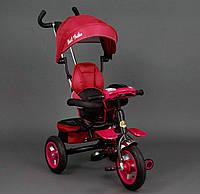 Трехколёсный детский велосипед Best Trike 6699 красный, надувные колеса, фото 1