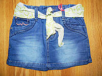 Джинсовые юбки на девочку оптом, Grace, 116-146 р