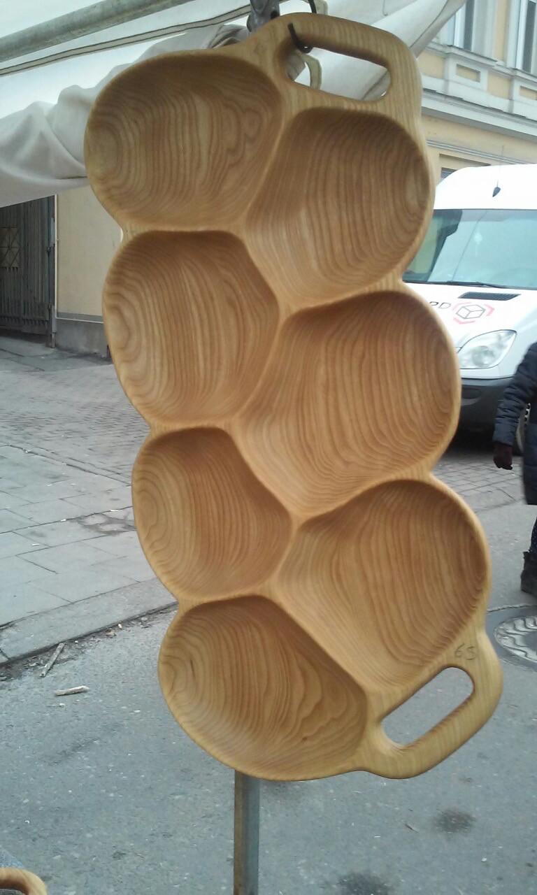 Оригинальный деревянный поднос